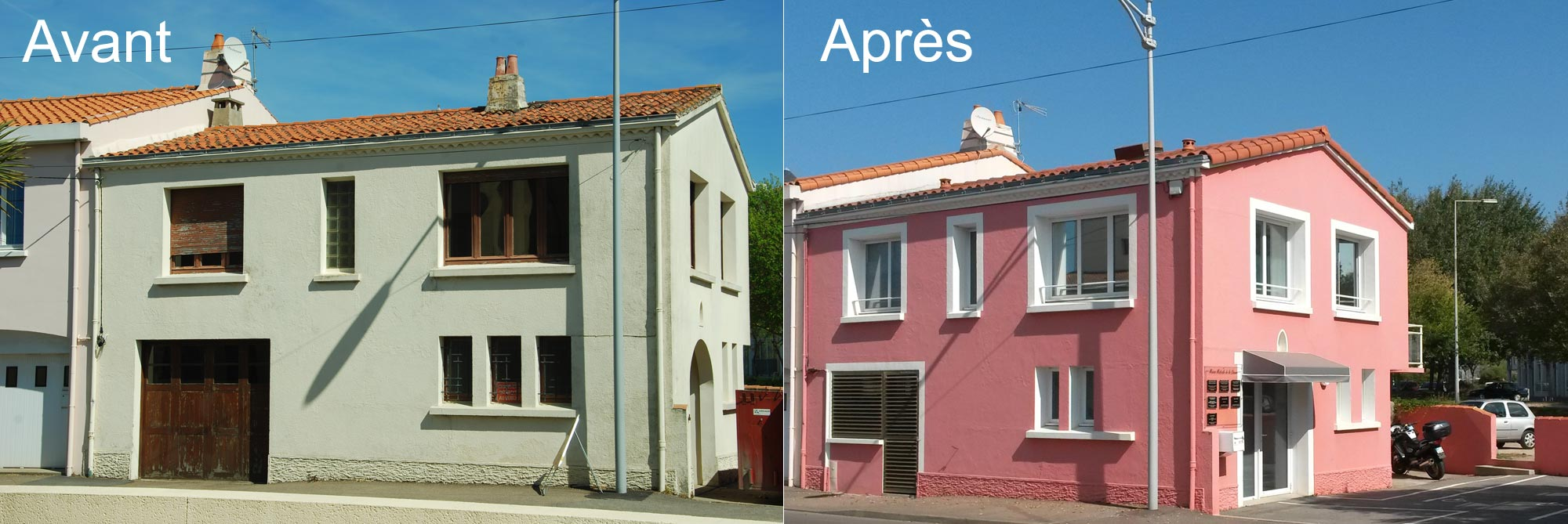 R novation maison les sables d 39 olonne en vend e for Renovation maison exterieur avant apres