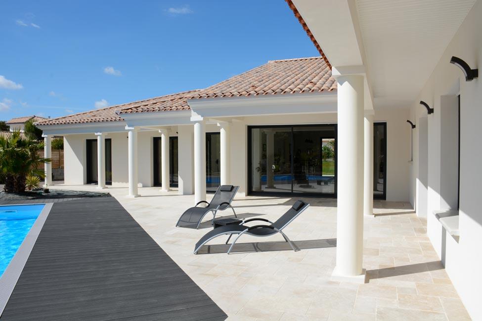 terrasse avec arcades