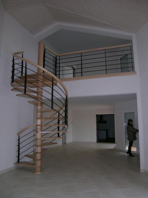 villa vec escalier en colimaçon