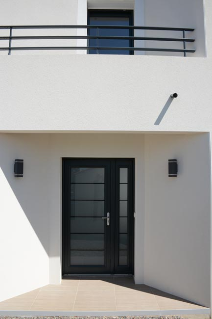 entrée maison contemporaine