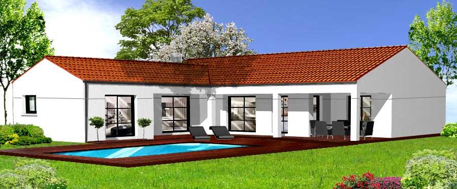 Modèle de construction de maison aux Sables d'Olonne