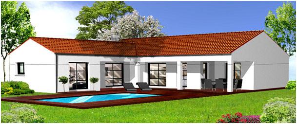 Plans de maison herbreteau construction vend e for Plan de suite parentale avec salle de bain dressing
