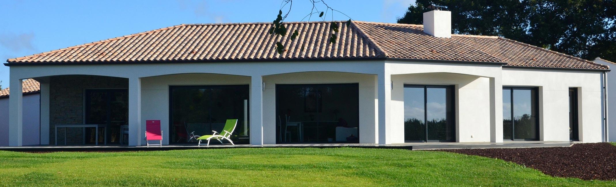 Construire maison contemporaine vend e herbreteau constructeur les sables d olonne vend e for Maison contemporaine vendee