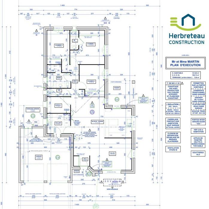 Plan maison Herbreteau